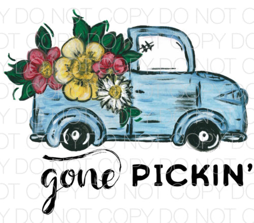 Gone Pickin - Dye Sub Heat Transfer Sheet