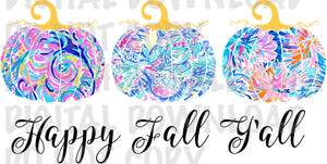 Lilly Happy Fall Yall Pumpkin Trio - Digital Download