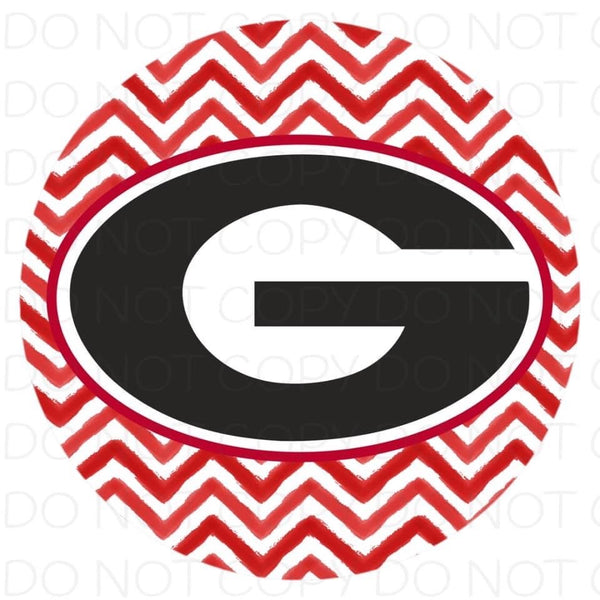 Georgia chevron- Rubber Neoprene Car Coasters