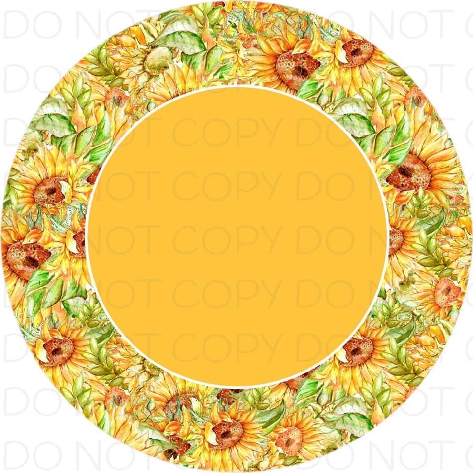 Sunflower Border - Rubber Neoprene Car Coasters