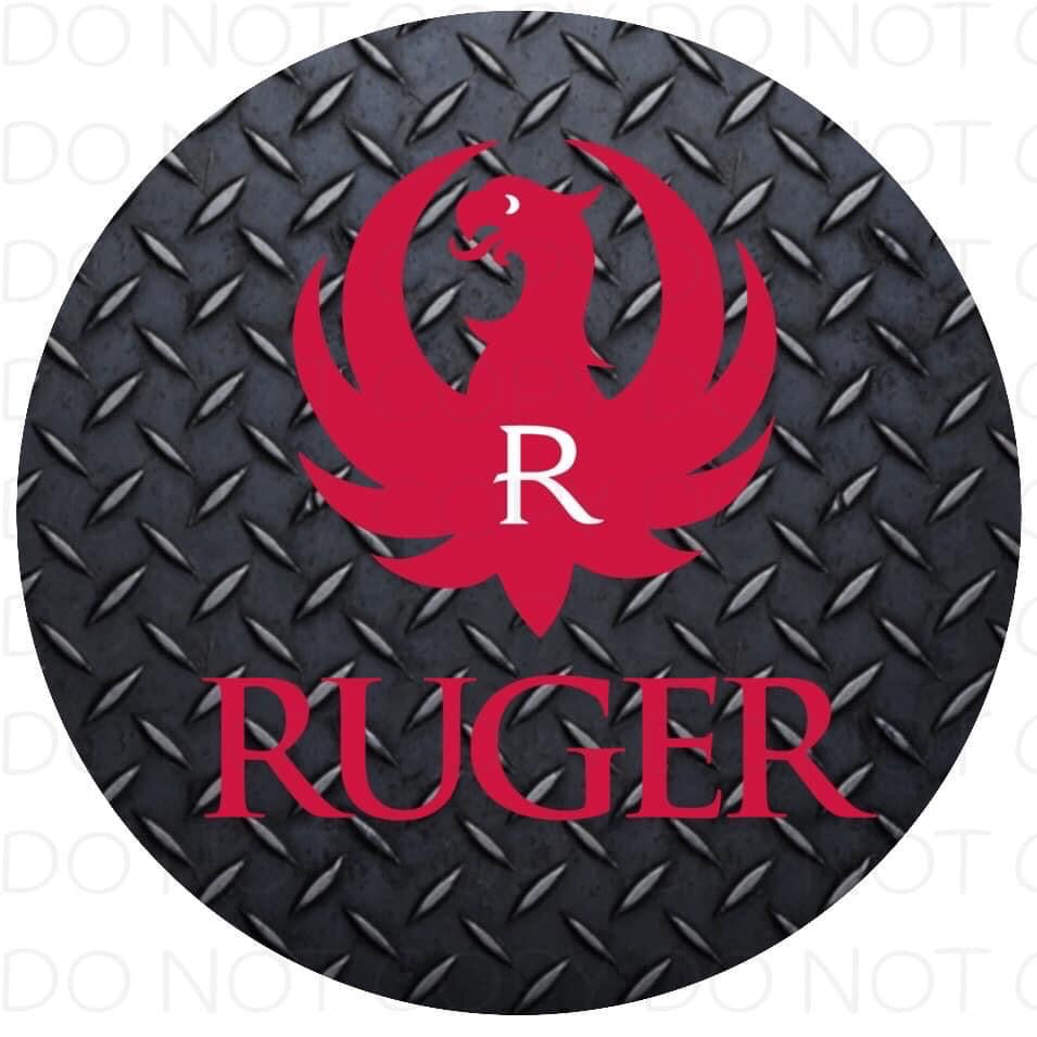 Ruger- Rubber Neoprene Car Coasters