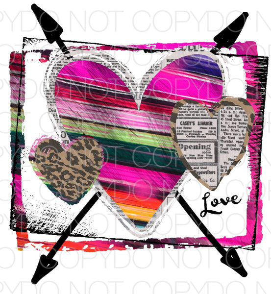 Love Hearts - Dye Sub Heat Transfer Sheet