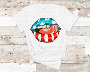 Patriotic Mouth - Dye Sub Heat Transfer Sheet
