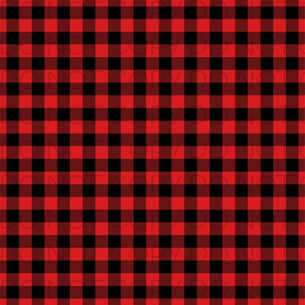 Red Buffalo Plaid-Patterned Vinyl Sheets