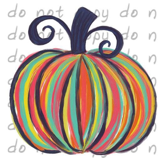 Colorful Fall Pumpkin - Dye Sub Heat Transfer Sheet