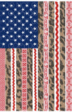 Lace and Leopard Flag Red - Dye Sub Heat Transfer Sheet