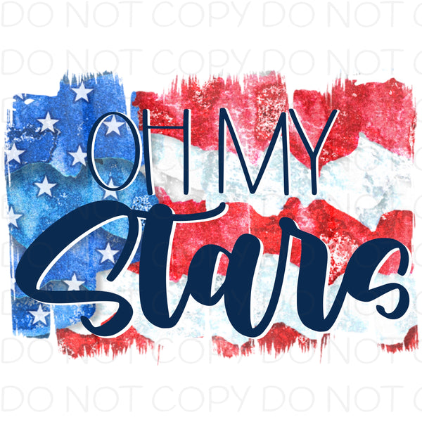 Oh my stars - Dye Sub Heat Transfer Sheet