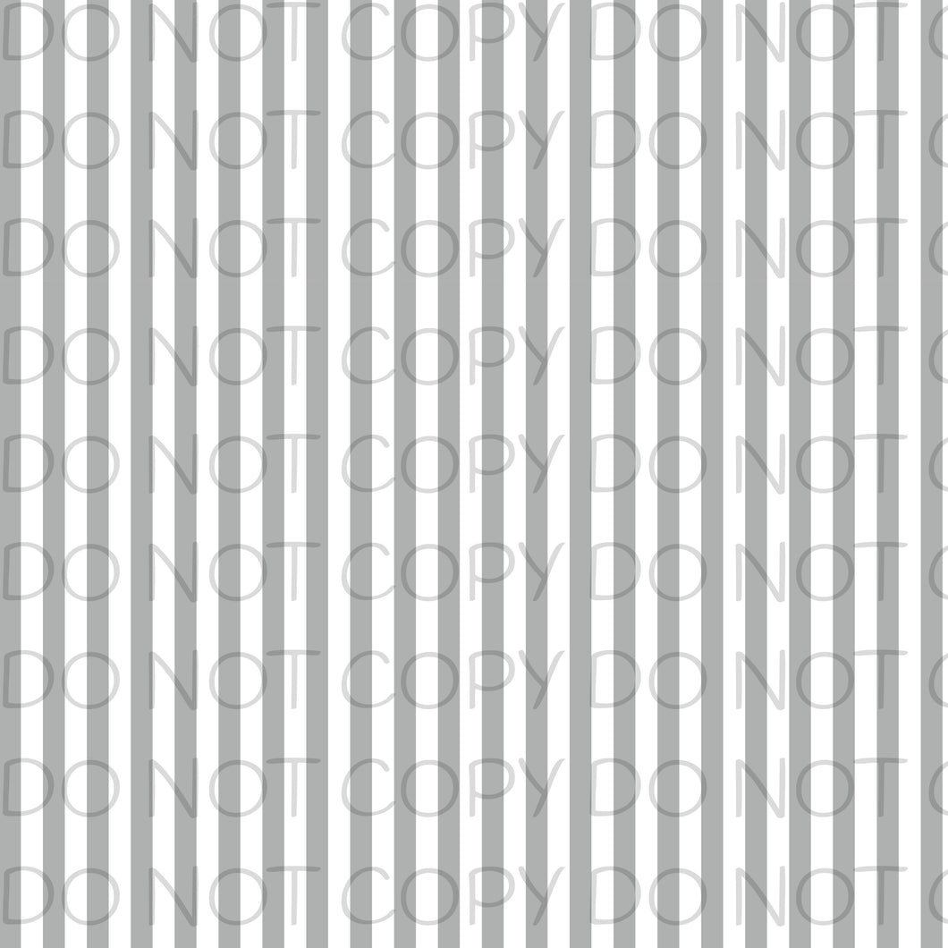 Grey White Striped-Patterned Vinyl Sheets