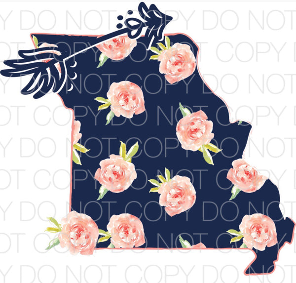 Missouri Floral - Dye Sub Heat Transfer Sheet