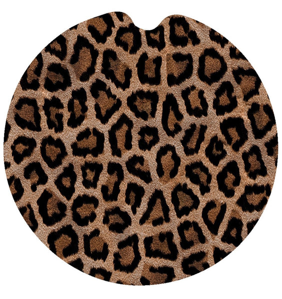 Leopard-Rubber Neoprene Car Coasters
