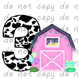 Birthday Pink Barn 3 - Dye Sub Heat Transfer Sheet
