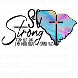 South Caroline SC Strong - Dye Sub Heat Transfer Sheet