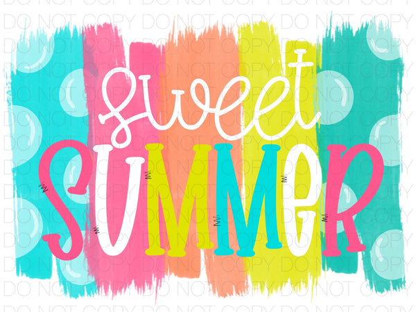 Sweet summer - Dye Sub Heat Transfer Sheet