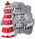 Keep your ship together - Dye Sub Heat Transfer Sheet