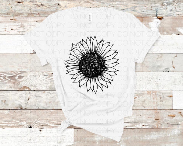 Black Sunflower - Dye Sub Heat Transfer Sheet
