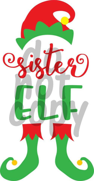 Sister Elf - Dye Sub Heat Transfer Sheet