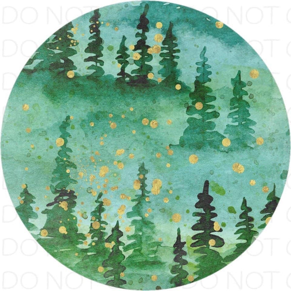 Enchanted Forest - Rubber Neoprene Car Coasters