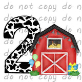 Birthday Red Barn 2 - Dye Sub Heat Transfer Sheet