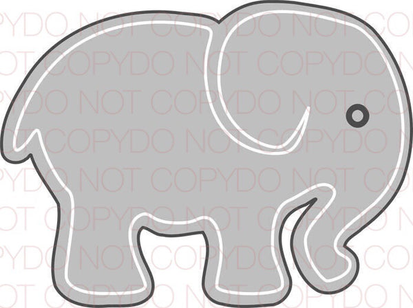 Gray Elephant - Dye Sub Heat Transfer Sheet