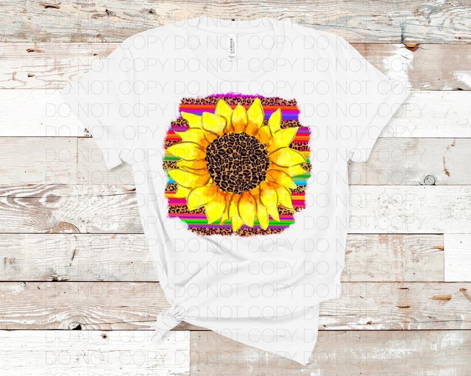 Serape Sunflower - HTV Transfer