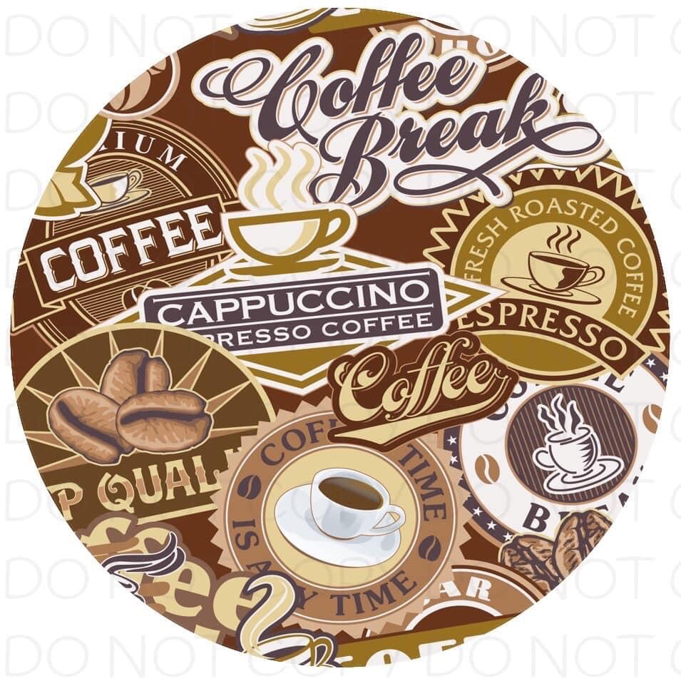 Coffee Break- Rubber Neoprene Car Coasters