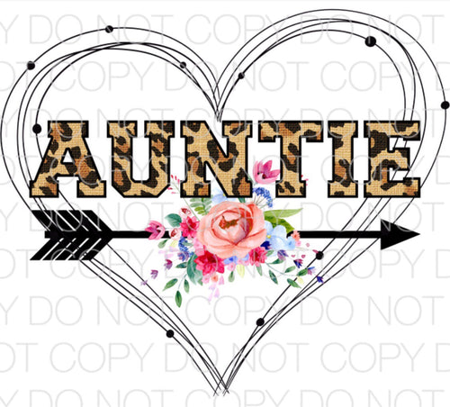 Auntie Heart - Dye Sub Heat Transfer Sheet