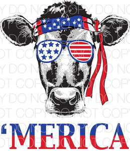 Merica Cow - Dye Sub Heat Transfer Sheet