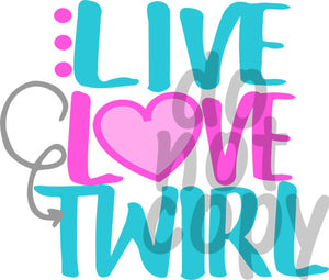 Live Love Twirl 2 - Dye Sub Heat Transfer Sheet