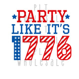 Party Like It's 1776 - Dye Sub Heat Transfer Sheet