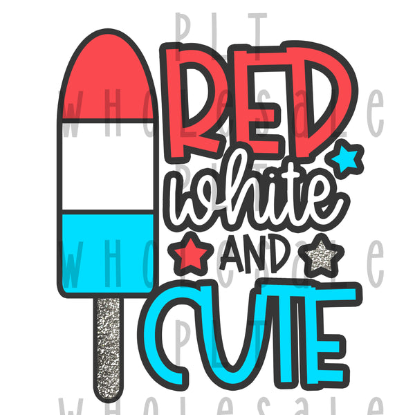 Red White and Cute - Dye Sub Heat Transfer Sheet