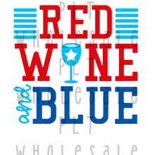 Red Wine and Blue - Dye Sub Heat Transfer Sheet