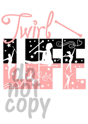 Twirl Life - Dye Sub Heat Transfer Sheet