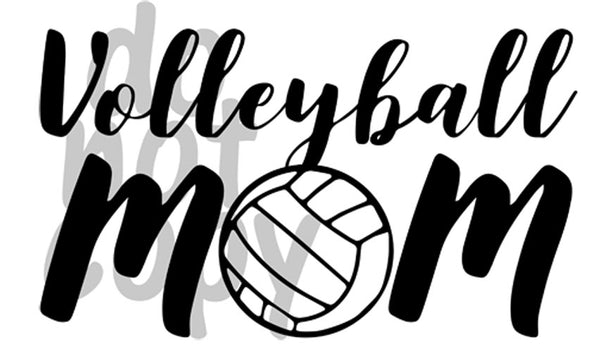 Volleyball Mom 1 - Dye Sub Heat Transfer Sheet