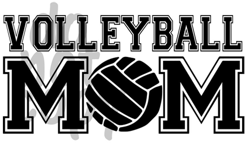 Volleyball Mom 2 - Dye Sub Heat Transfer Sheet