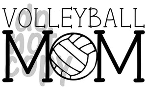Volleyball Mom 5 - Dye Sub Heat Transfer Sheet