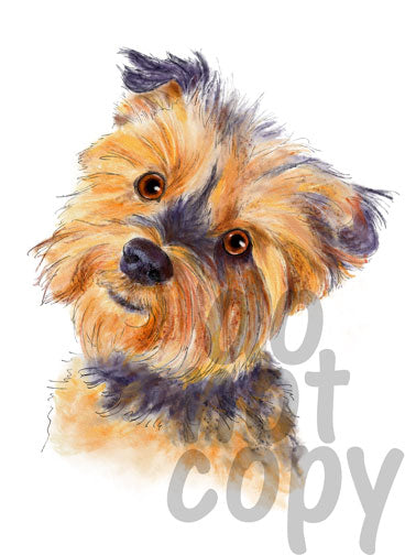 Yorkie Watercolor Dog - Dye Sub Heat Transfer Sheet