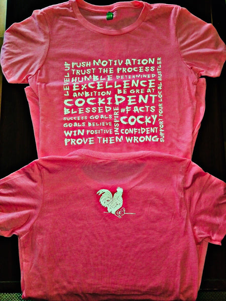 More Than Words Next Level Women's CVC Fitted Tee Hot Pink