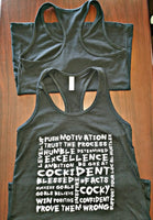 """More Than Words"" Bella+Canvas Women's Jersey Racerback Tank BLACK"