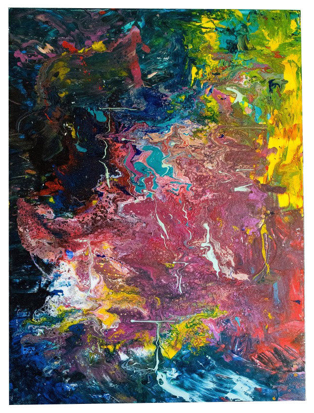 30 X 40 Abstract Canvas Painting Acrylic Fluid Art Painting Large