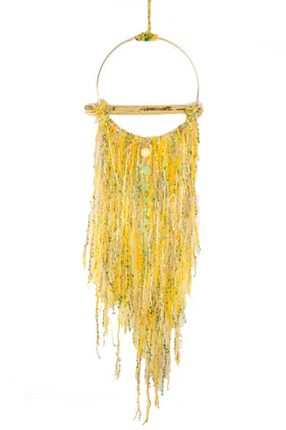 Yellow Drift Wood Dream Catcher