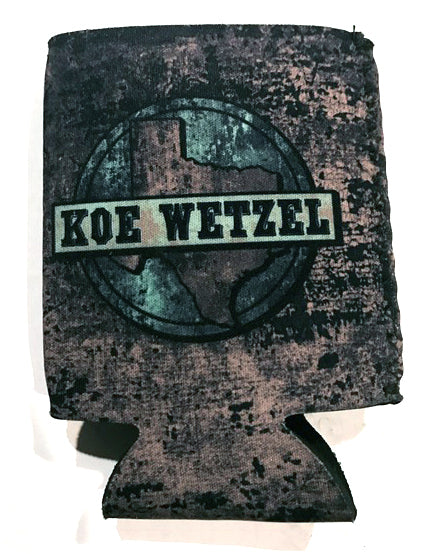Purple TX Circle Koozie