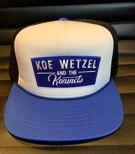 Koe Wetzel and the Konvicts Hat - Blue/White/Black