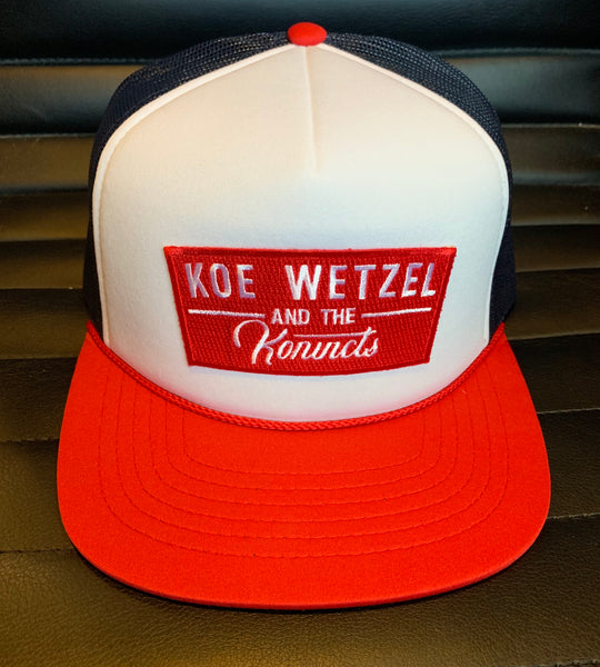 Koe Wetzel and the Konvicts Hat - Red/White/Blue