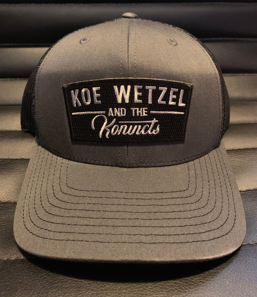 Koe Wetzel and the Konvicts Hat - Charcoal/Black