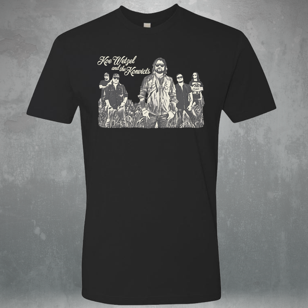 Koe Wetzel Band Picture Shirt - Black
