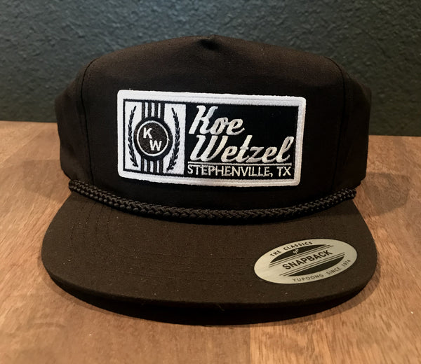 Koe Wetzel Black Rope Hat - Black