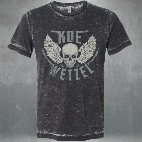 Grey Distressed Skull Shirt