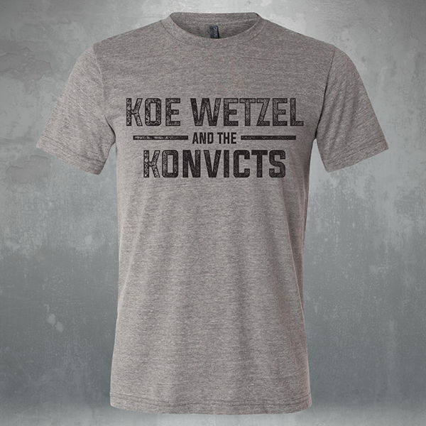 Koe Wetzel and The Konvicts Shirt - Grey