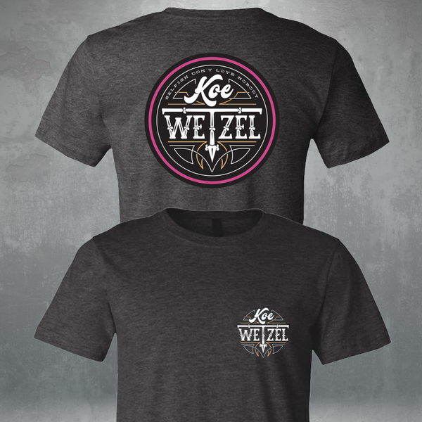 Koe Wetzel Selfish Circle Shirt - Grey/Pink