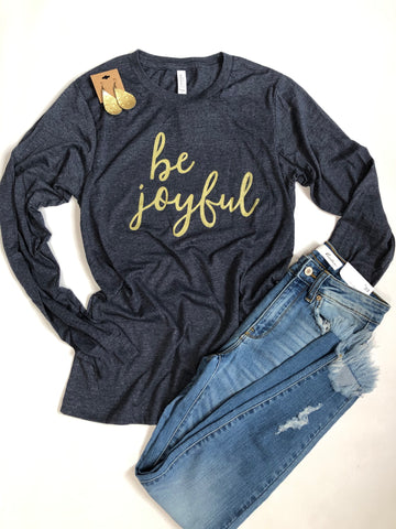 Be joyful-Long sleeve-Christmas tee